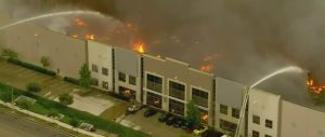Fire destroys a distribution center linked to Amazon in California